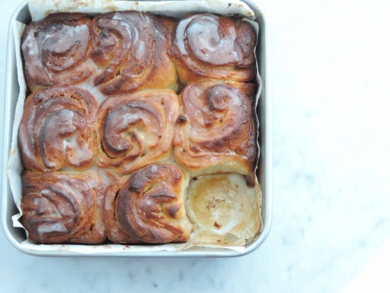 Best homemade cardamom and rose swirls ever