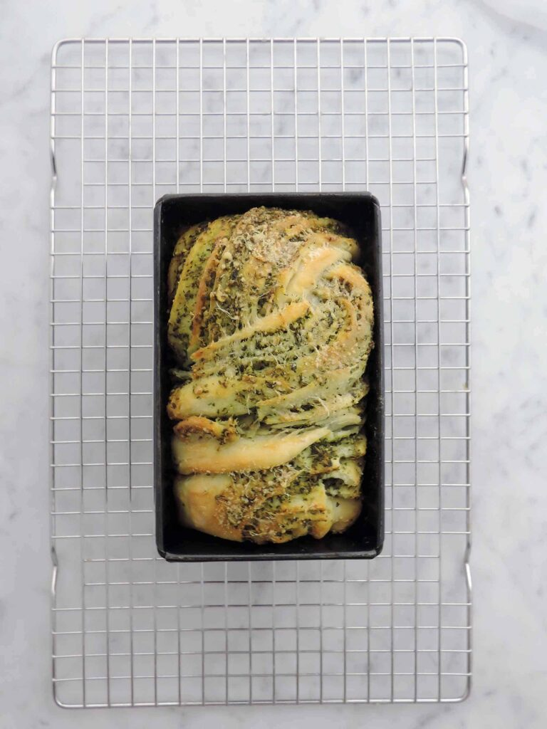 My braided pesto loaf, perfect for brunch