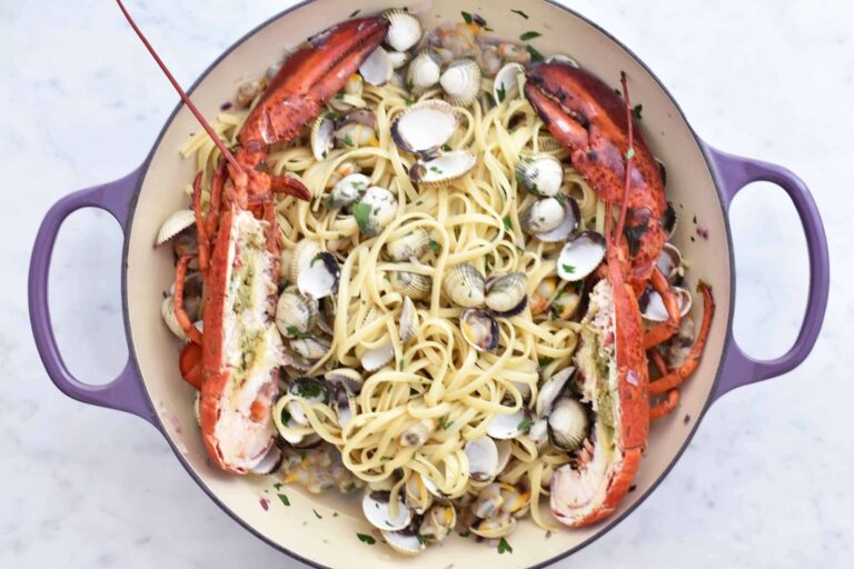 My summer lobster and cockles linguine