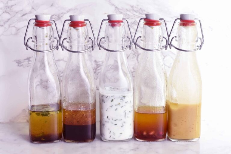 My 5 tasty salad dressings made under 5 minutes