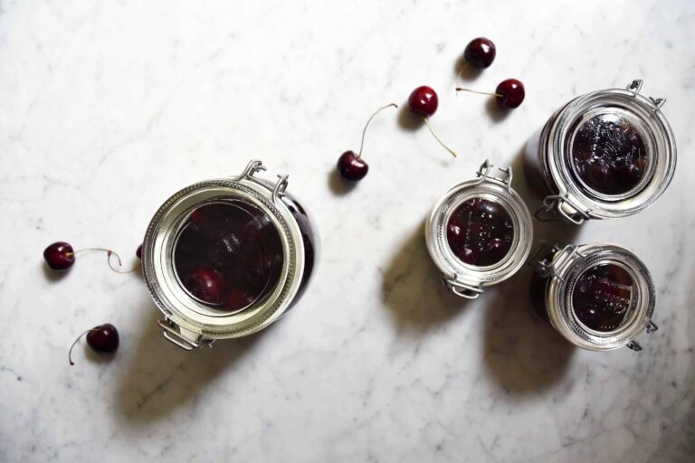 My canned cherries: sweet or boozy