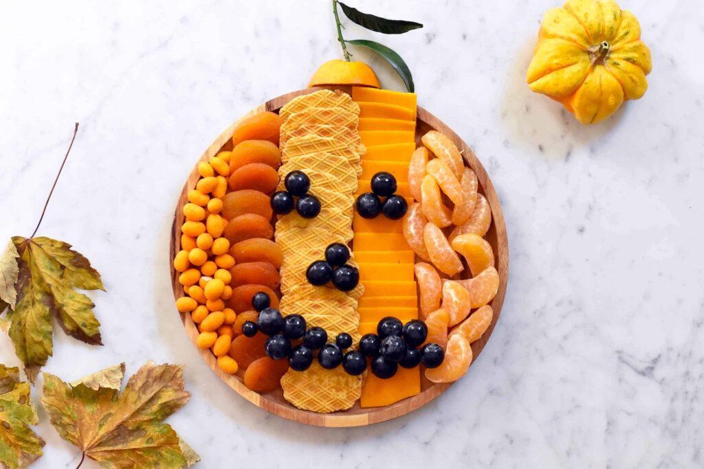 My Halloween pumpkin cheese board