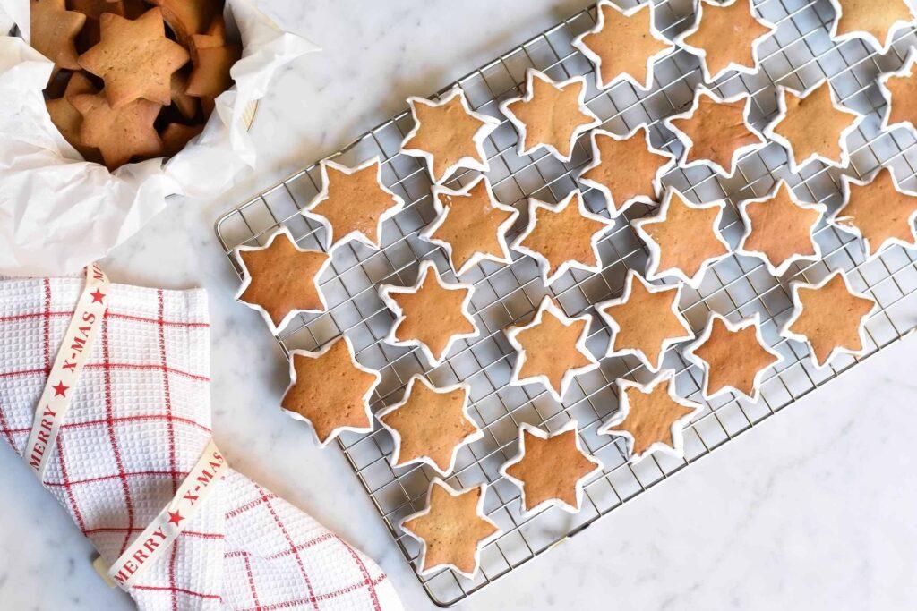 My gingerbread star cookies, a total fail