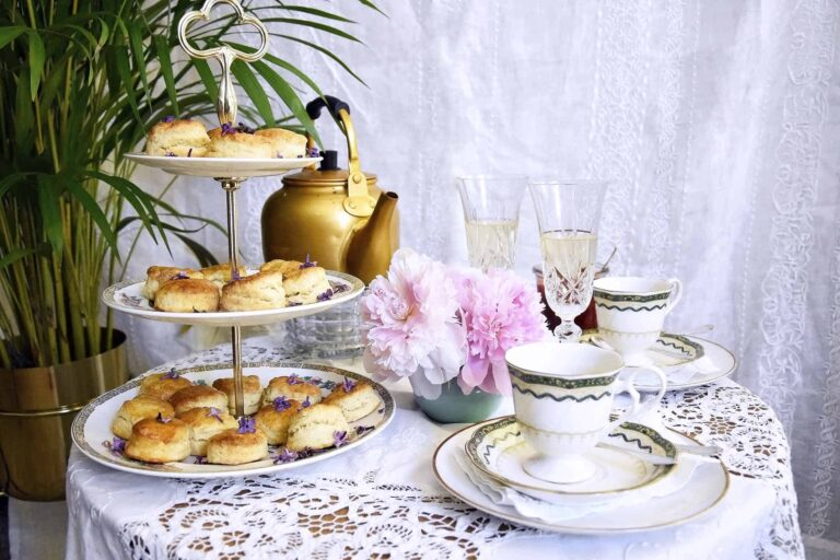 Celebrating Mother's day with scones and tea
