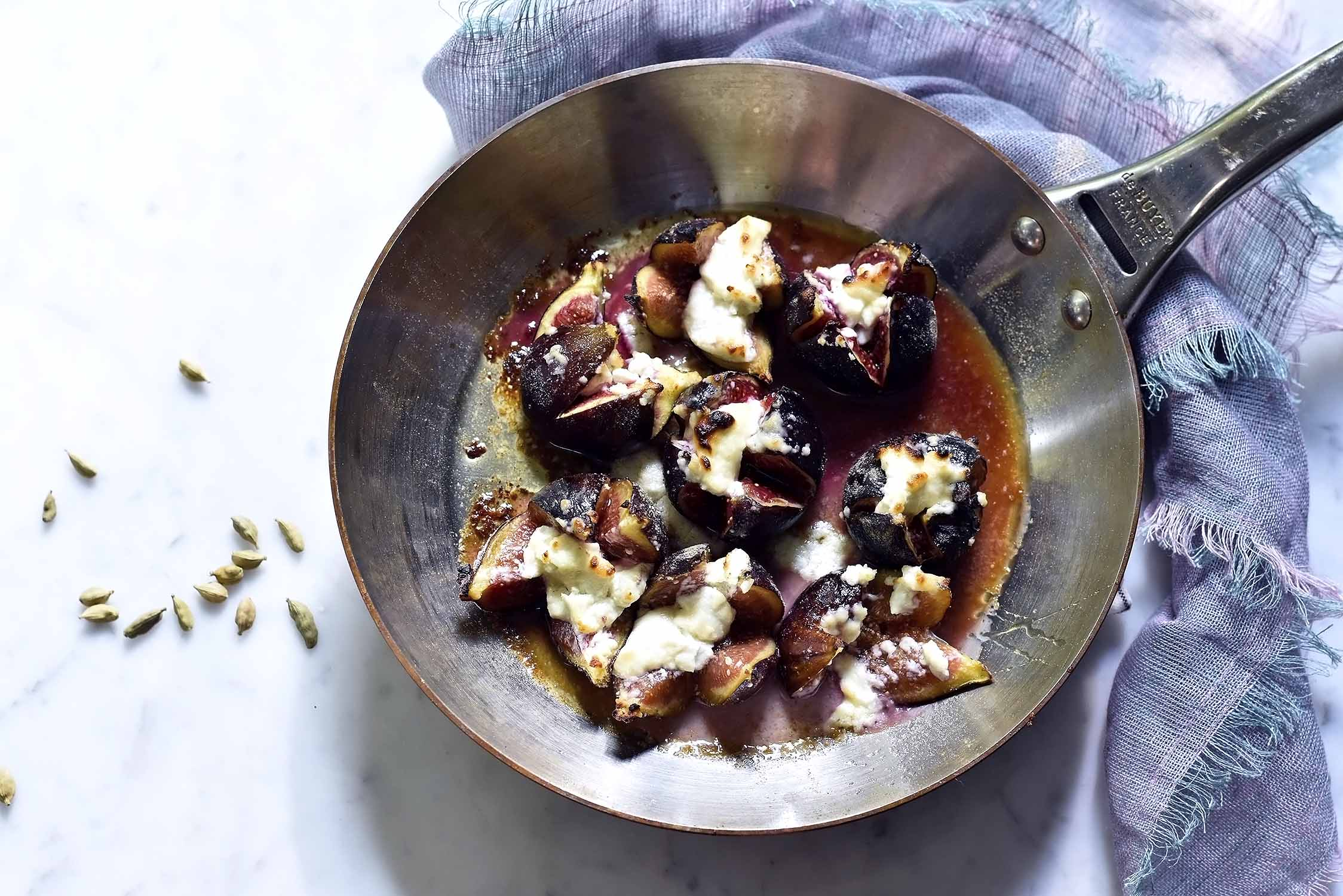 My Cardamom roasted figs with goatcheese