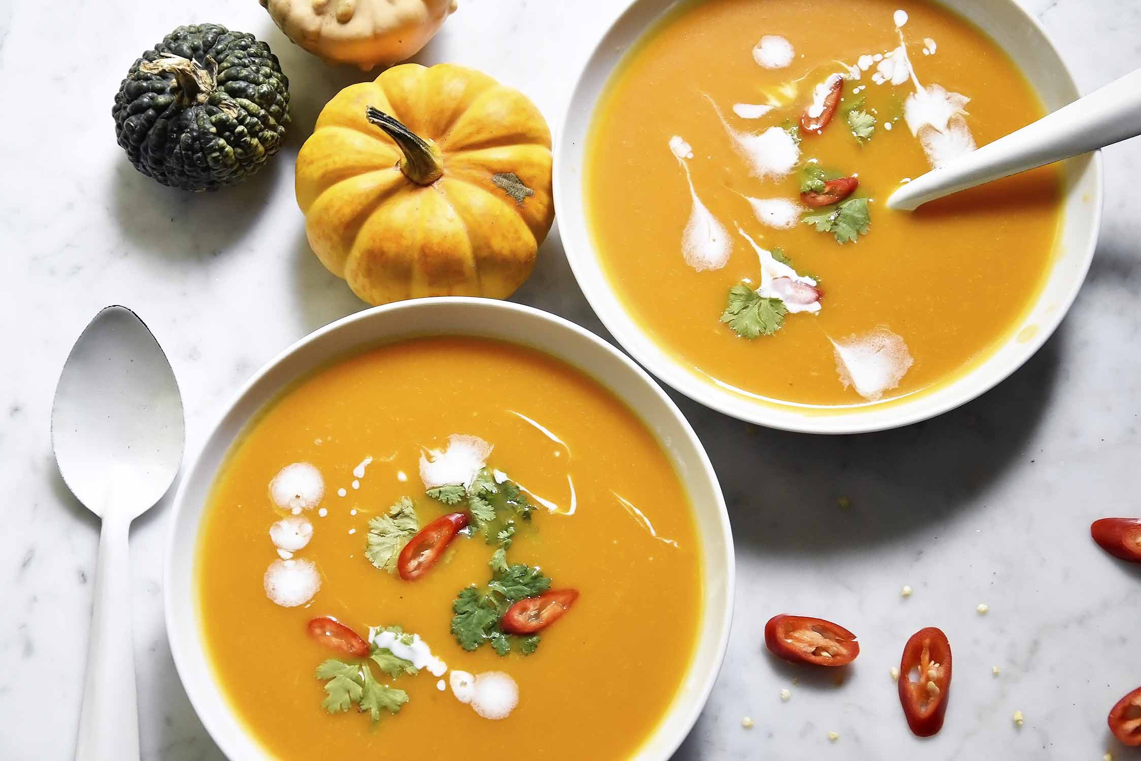 My spicy Thai pumpkin soup