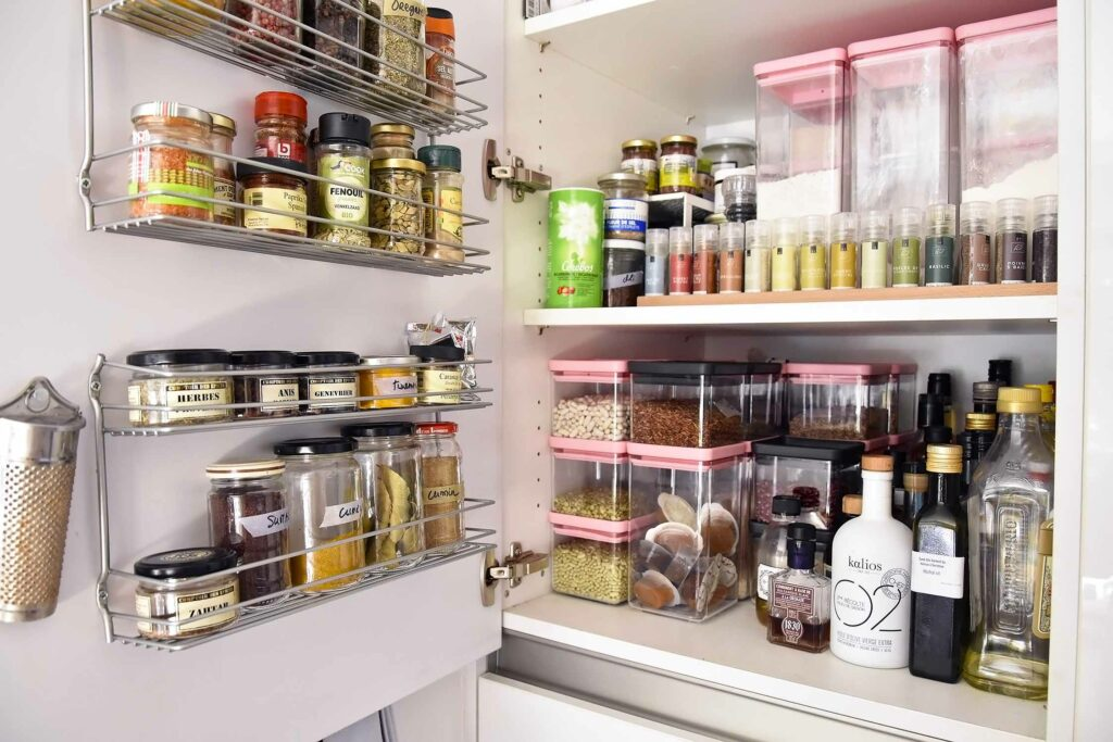 How to turn a kitchen cupboard into a pantry