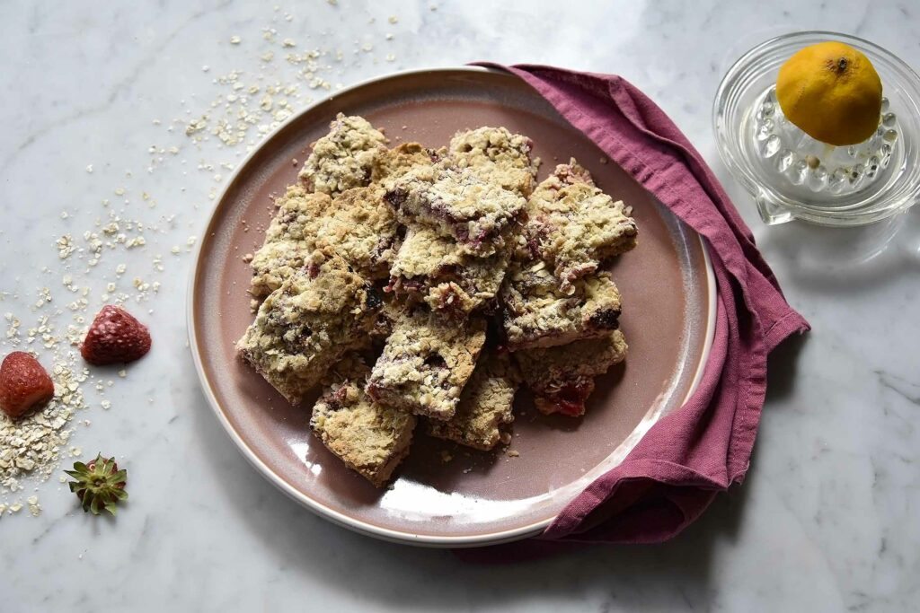 My strawberry and oats breakfast squares